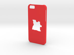 Iphone 6 Case Angola in Red Strong & Flexible Polished
