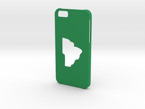 Iphone 6 Brazil Case in Green Processed Versatile Plastic
