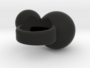 """BUBBLES""_Women ring in Black Natural Versatile Plastic"
