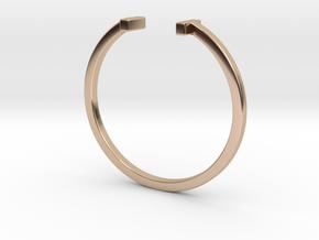 Minimal Elegance Bracelet in 14k Rose Gold Plated Brass