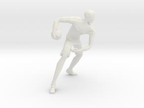Basketball Player Miniature in White Natural Versatile Plastic
