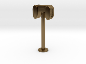 Drive In Speaker / Stand  - 1:7.5 Scale in Polished Bronze