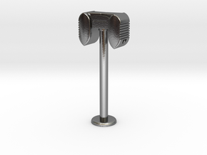 Drive In Speaker / Stand  - 1:7.5 Scale in Polished Silver