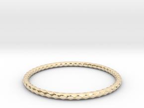 Diamond Pattern Bracelet USA Size Medium in 14k Gold Plated Brass