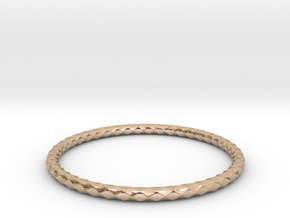 Diamond Pattern Bracelet USA Size Small in 14k Rose Gold Plated