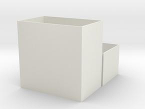 Card Deck Box in White Natural Versatile Plastic