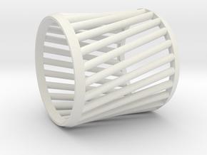 Napkin Ring Twist in White Natural Versatile Plastic