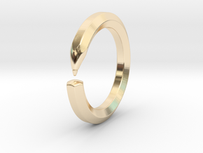 Herbert S. - Pencil Ring in 14k Gold Plated Brass: 9 / 59