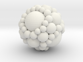 Soddy spheres in White Natural Versatile Plastic: Medium