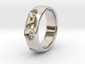 Laurane - Ring - US 9 - 19mm inside diameter in Rhodium Plated Brass: 9 / 59