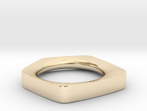 """FACET""_Women ring in 14k Gold Plated Brass"