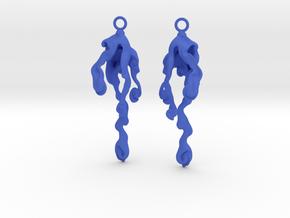 Element Earrings: Water in Blue Processed Versatile Plastic
