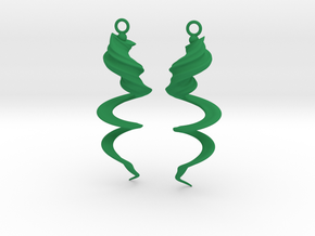 Element Earrings: Wind in Green Processed Versatile Plastic