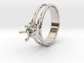 Design Ring 18.20 Mm For Diamond 5.2 Mm Model Futu in Platinum