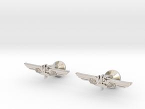 Allan Vleugel - Cufflinks in Rhodium Plated Brass
