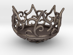 Hedera Tealight Holder- Small in Polished Bronzed Silver Steel
