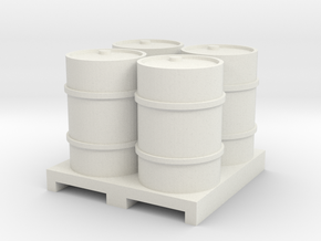 44 Gal Solid Pallet in White Natural Versatile Plastic