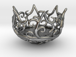 Hedera Tealight Holder- Small in Polished Silver