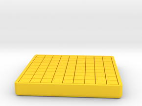 Japanese chess board / Shogi board ver.2 in Yellow Processed Versatile Plastic