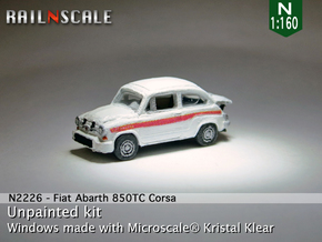 Fiat Abarth 850 TC Corsa (N 1:160) in Smooth Fine Detail Plastic