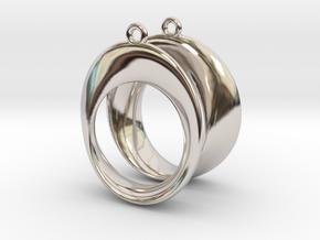 Mobius earrings in Rhodium Plated Brass