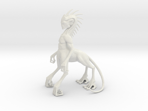 Alien Centaur in White Natural Versatile Plastic