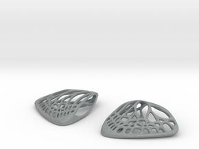 Butterfly Earrings (S)  in Polished Metallic Plastic