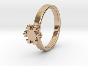 Snowflake Ring 20 Mm in 14k Rose Gold Plated Brass