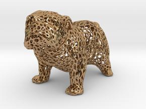 Bulldog Voronoi 45mm in Polished Brass