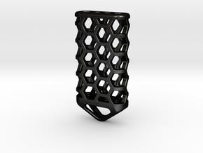 Hex Lantern X4: Tritium (All Materials) in Matte Black Steel