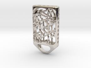 Cat Lantern 2: Tritium (Silver/Brass/Plastic) in Platinum