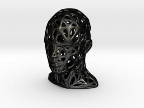 Female Voronoi Head Scale 0.25 in Matte Black Steel