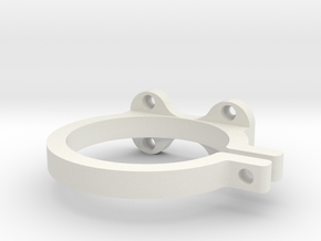 65mm Spindle support in White Natural Versatile Plastic
