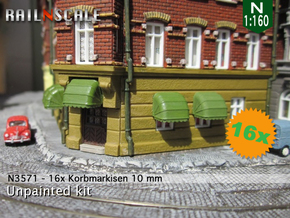 16x Korbmarkise 10 mm (N1:160) in Smooth Fine Detail Plastic