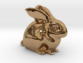 Bunny Pendant  in Polished Brass