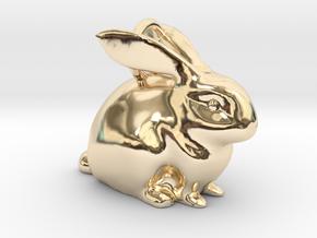 Bunny Pendant  in 14K Yellow Gold