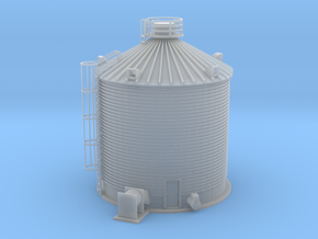 Single Corn Silo Z Scale in Frosted Extreme Detail