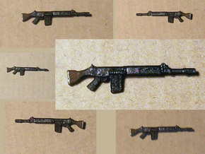 28mm FN FAL rifles (10) in Frosted Ultra Detail