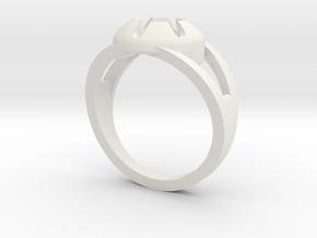 Matrix Ring in White Natural Versatile Plastic