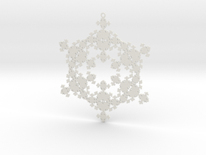 Fractal Snowflake 1 - LP in White Natural Versatile Plastic