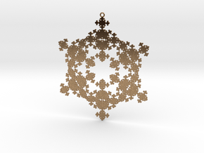 Fractal Snowflake 1 - LP in Natural Brass