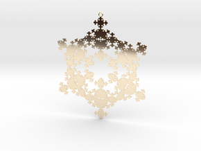Fractal Snowflake 1 - LP in 14K Yellow Gold