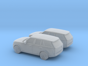 1/148 2X 2013 Range Rover Vogue in Smooth Fine Detail Plastic