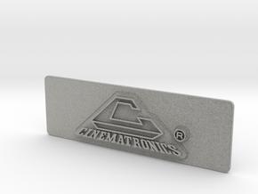 Cinematronics Coin Door Tag in Metallic Plastic