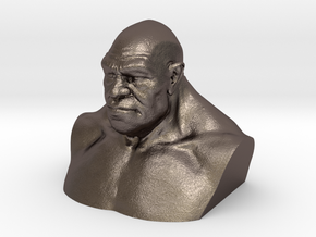 Neanderthal Hollowed in Polished Bronzed Silver Steel