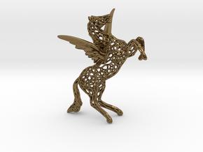 Pegasus Voronoi 80mm in Polished Bronze