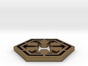 Star War Sith Empire Logo in Polished Bronze