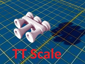 Locomotive 3 Chime Horns Type 3-1 & 3-2 TT Scale in Smooth Fine Detail Plastic