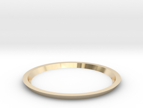Triangle Taper Ring 16.7mm in 14K Yellow Gold