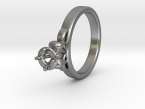 Ø20.4 Mm Diamond Ring Ø4.8 Mm Fit with bow in Natural Silver